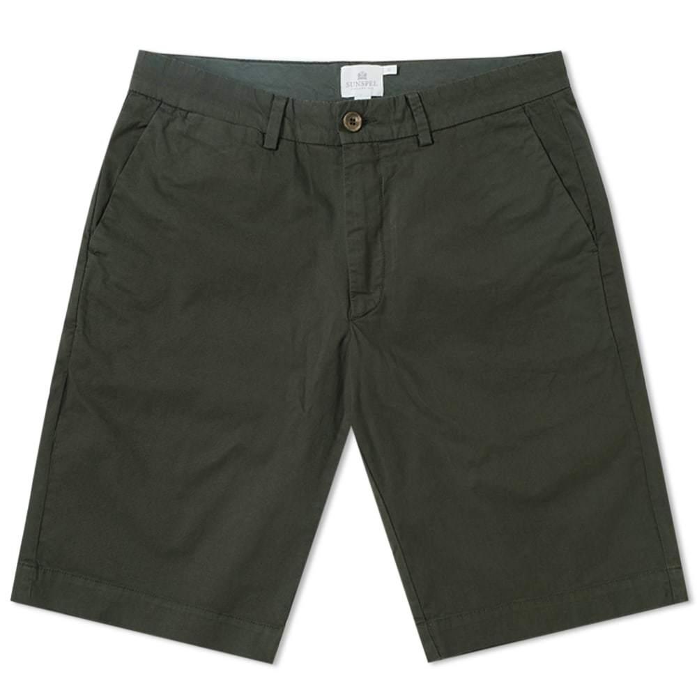 Sunspel Classic Chino Short Green
