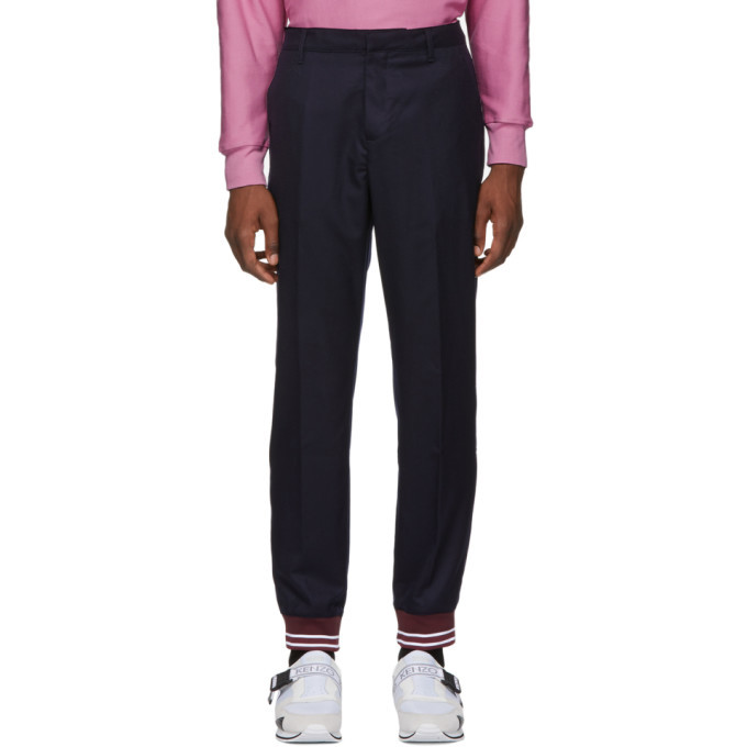 Photo: Kenzo Blue Wool Lounge Pants