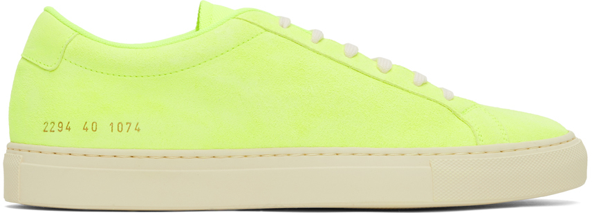 Photo: Common Projects Yellow Nubuck Achilles Low Sneakers