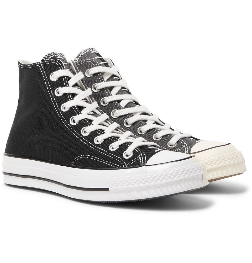Photo: Converse - 1970s Chuck Taylor All Star Colour-Block Canvas High-Top Sneakers - Black