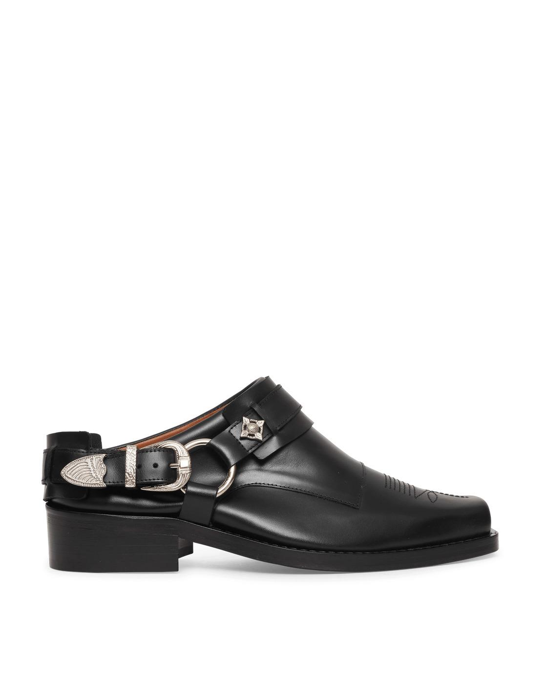 Photo: Toga Virilis Leather Slip On Boots Black