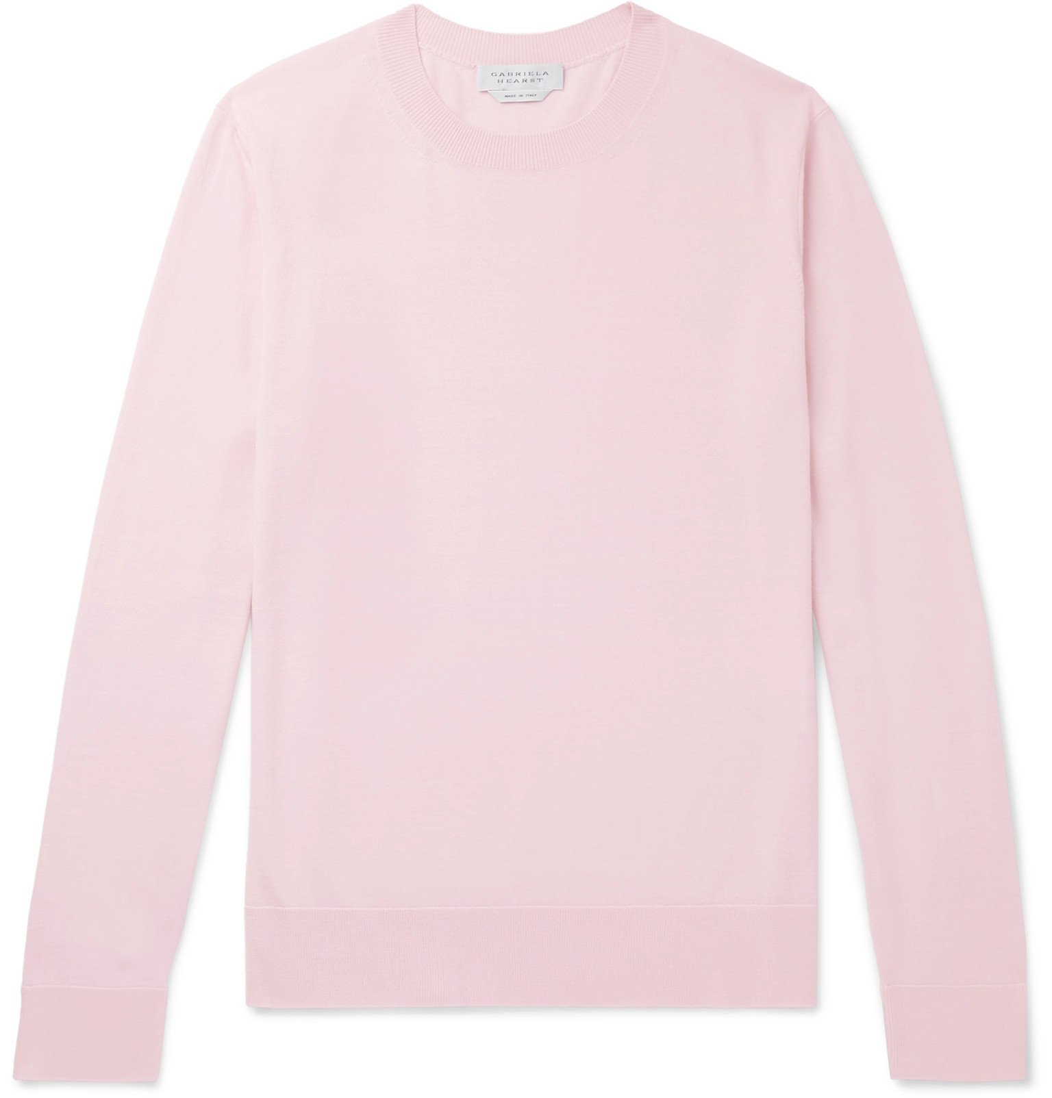 Photo: Gabriela Hearst - Slim-Fit Virgin Wool Sweater - Pink