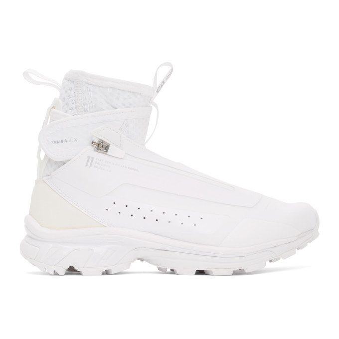 Photo: 11 by Boris Bidjan Saberi White Salomon Edition Bamba 3 High Sneakers