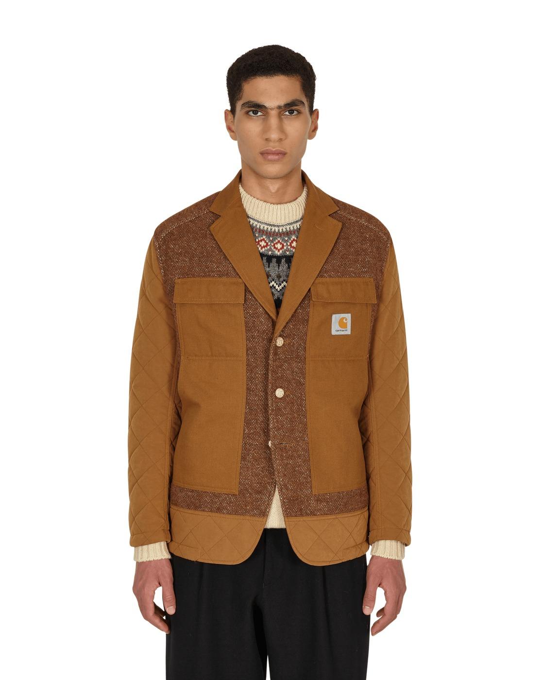 Photo: Junya Watanabe Man Carhartt Quilted Jacket Beige X Brown