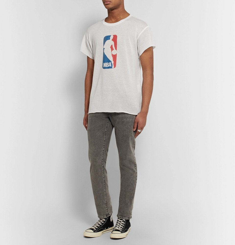 The Elder Statesman - NBA Printed Cashmere and Silk-Blend T-Shirt - White