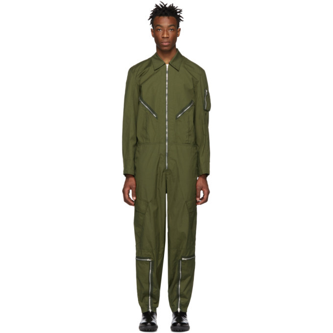 Photo: Helmut Lang Green Aviator Jumpsuit