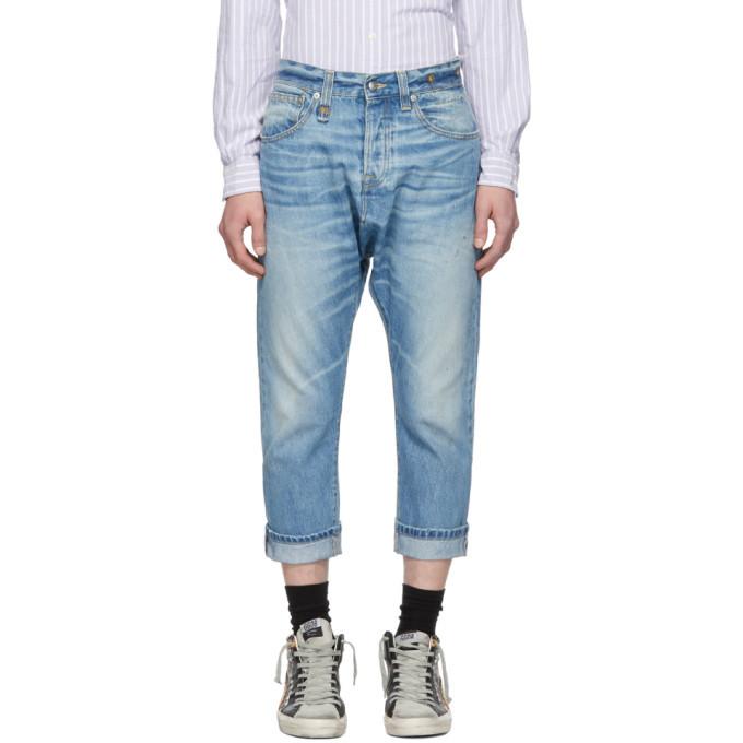 Photo: R13 Blue Jonah Drop Jeans