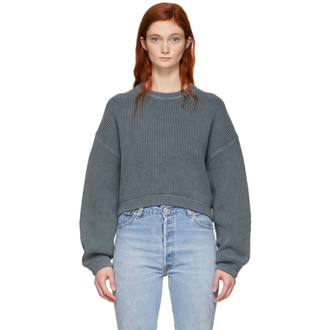 alexanderwang.t Grey Cropped Utility Sweater
