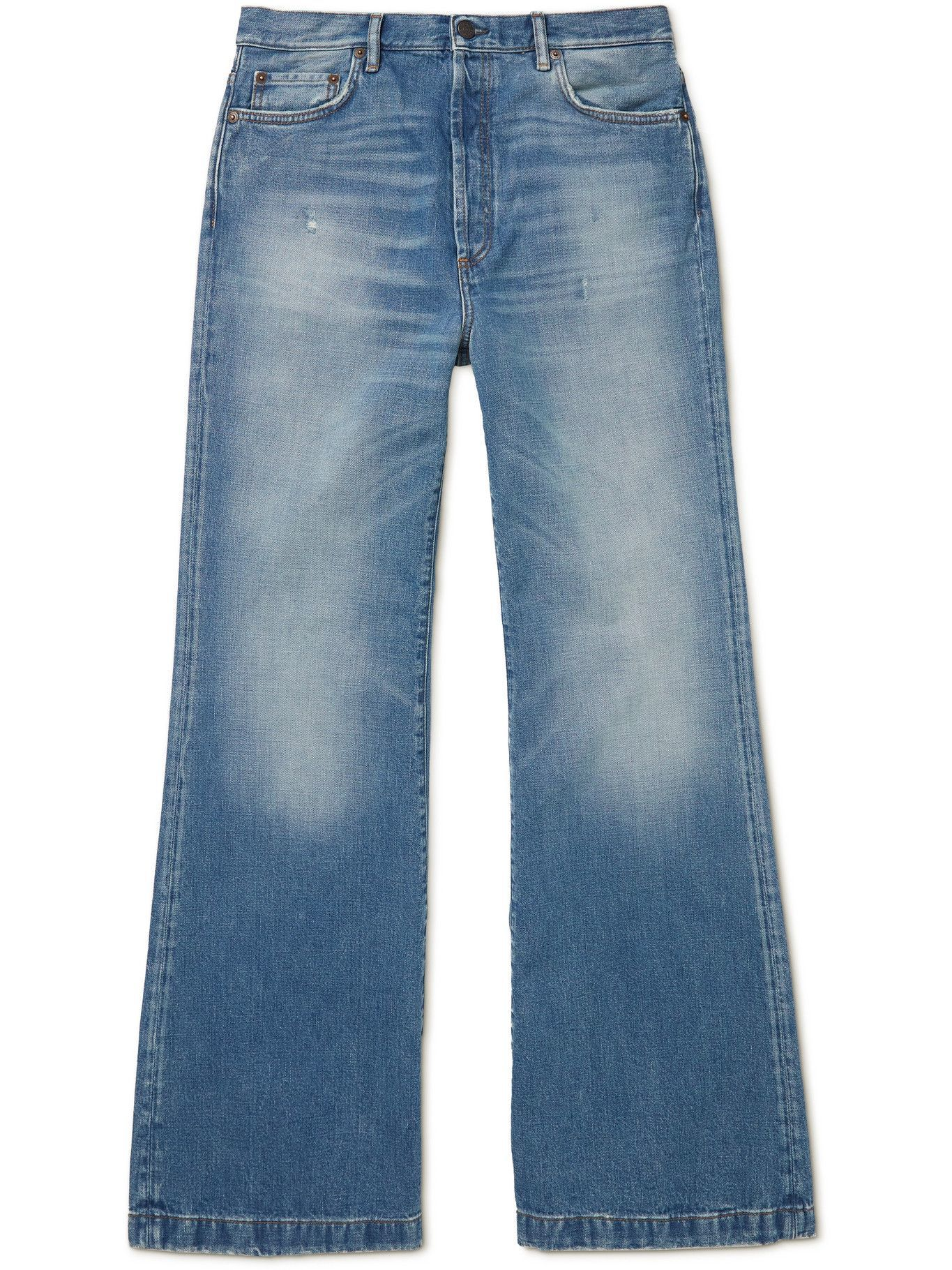 Photo: ACNE STUDIOS - Clement Rodeo Bootcut Denim Jeans - Blue