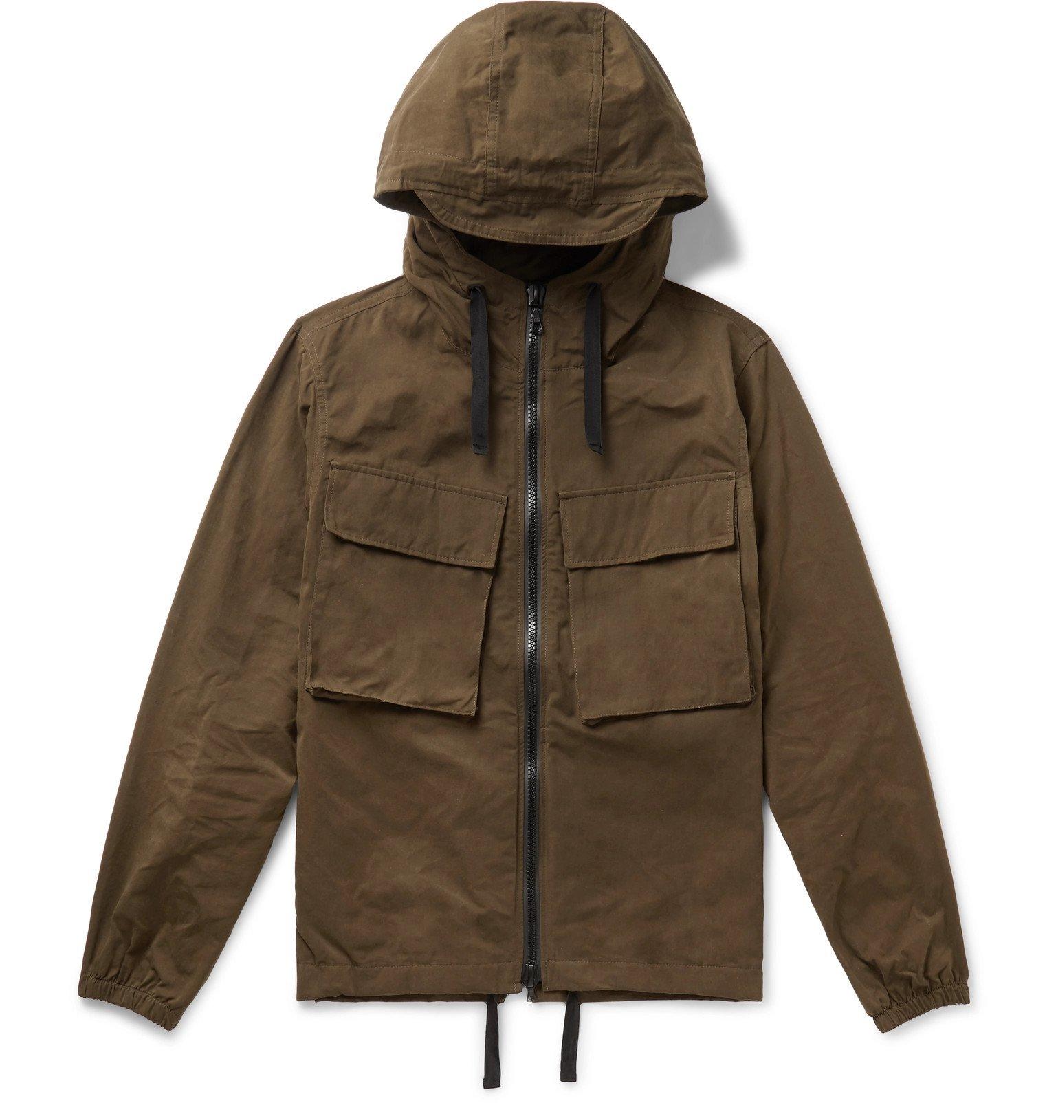 Officine Generale - Noah Canvas Hooded Jacket - Green