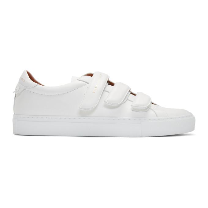 Photo: Givenchy White Urban Street Straps Sneakers