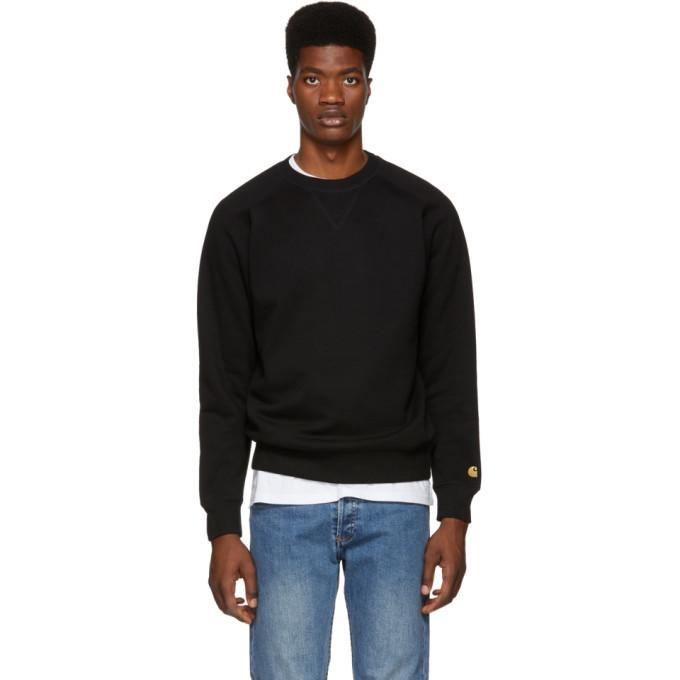 online retailer online store website for discount Carhartt Work In Progress Black Chase Sweatshirt