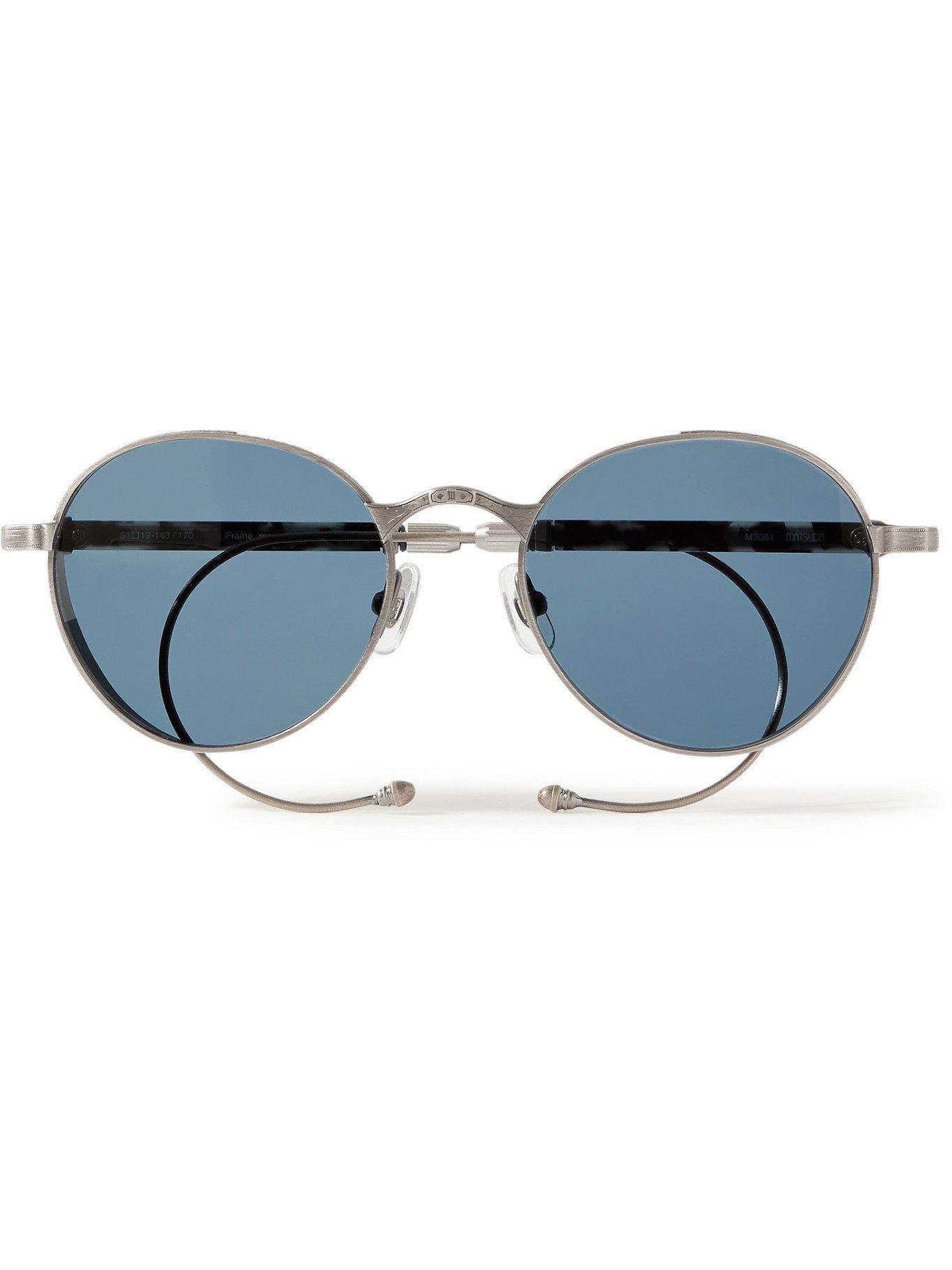Photo: MATSUDA - Convertible Round-Frame Silver-Tone Sunglasses