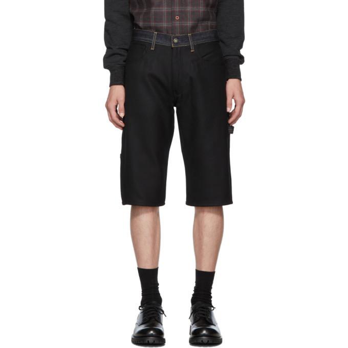 Photo: Junya Watanabe Indigo and Black Levis Edition 503 Customized Shorts