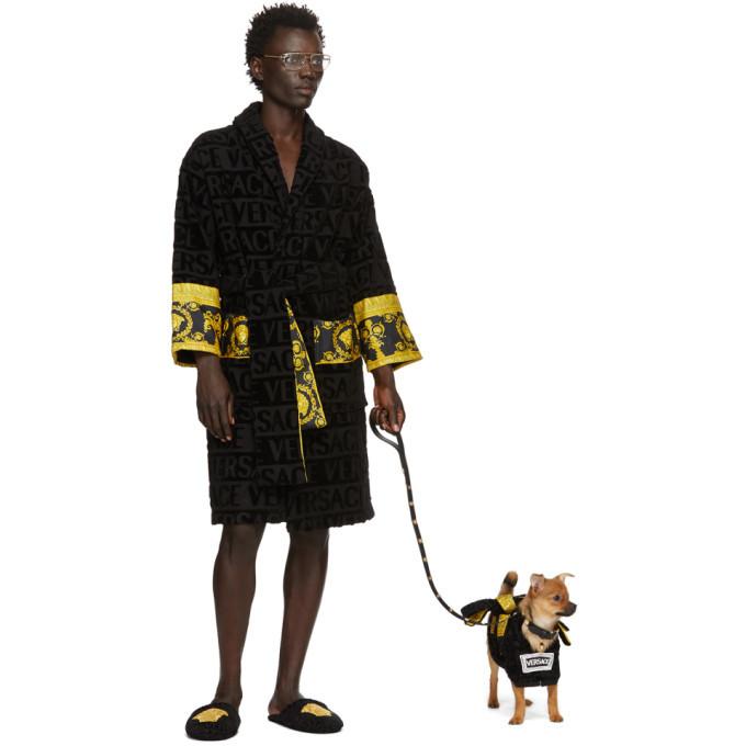 Versace Black Barocco Bathrobe