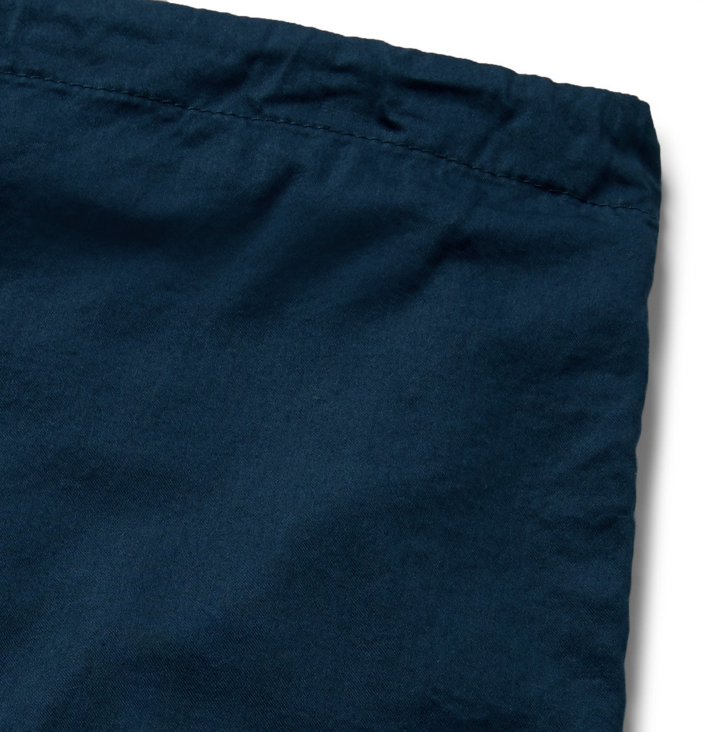 Cleverly Laundry - Piped Garment-Dyed Washed-Cotton Pyjama Shorts - Blue