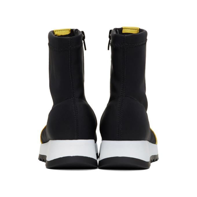 Won Hundred Black Ines Sock High-Top Sneakers