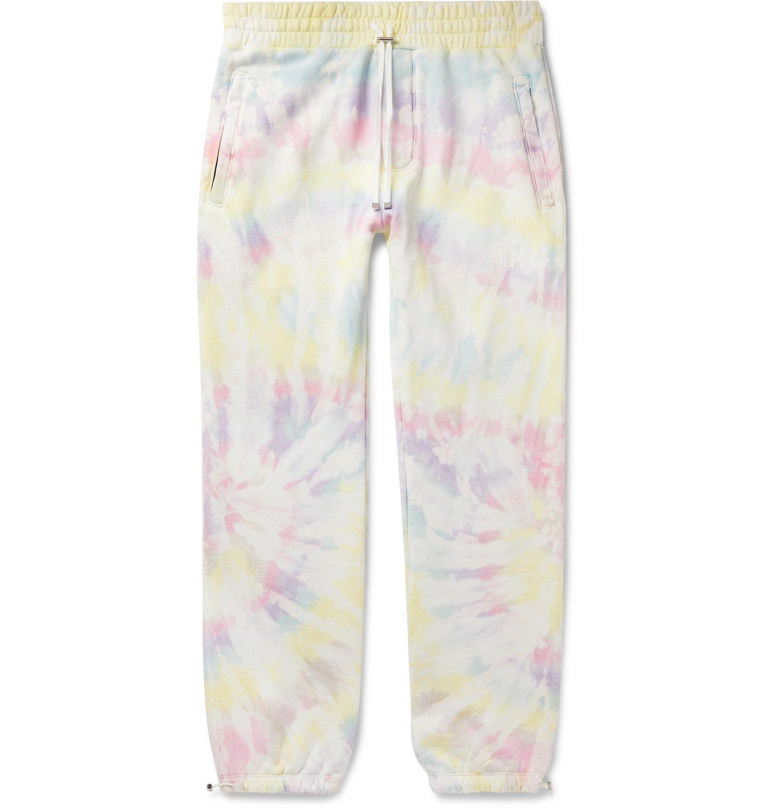 Photo: AMIRI - Tie-Dyed Loopback Cotton-Jersey Sweatpants - Yellow