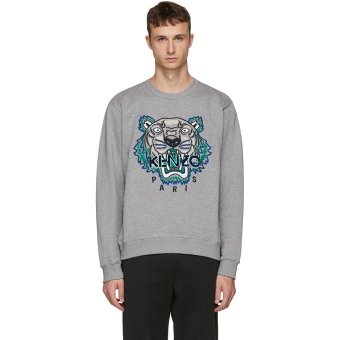 Photo: Kenzo Grey Leopard Tiger Sweatshirt