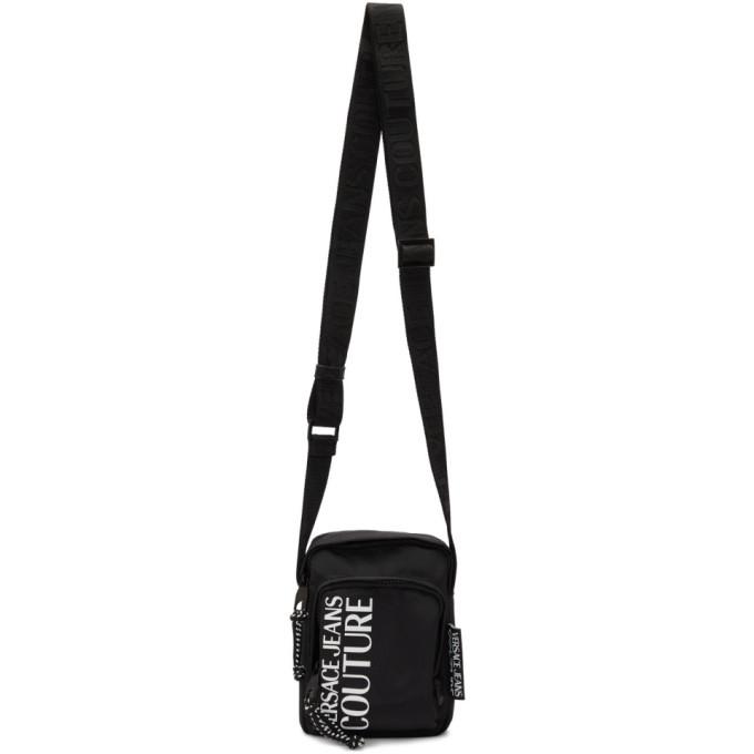 Photo: Versace Jeans Couture Black Nylon Logo Crossbody Bag