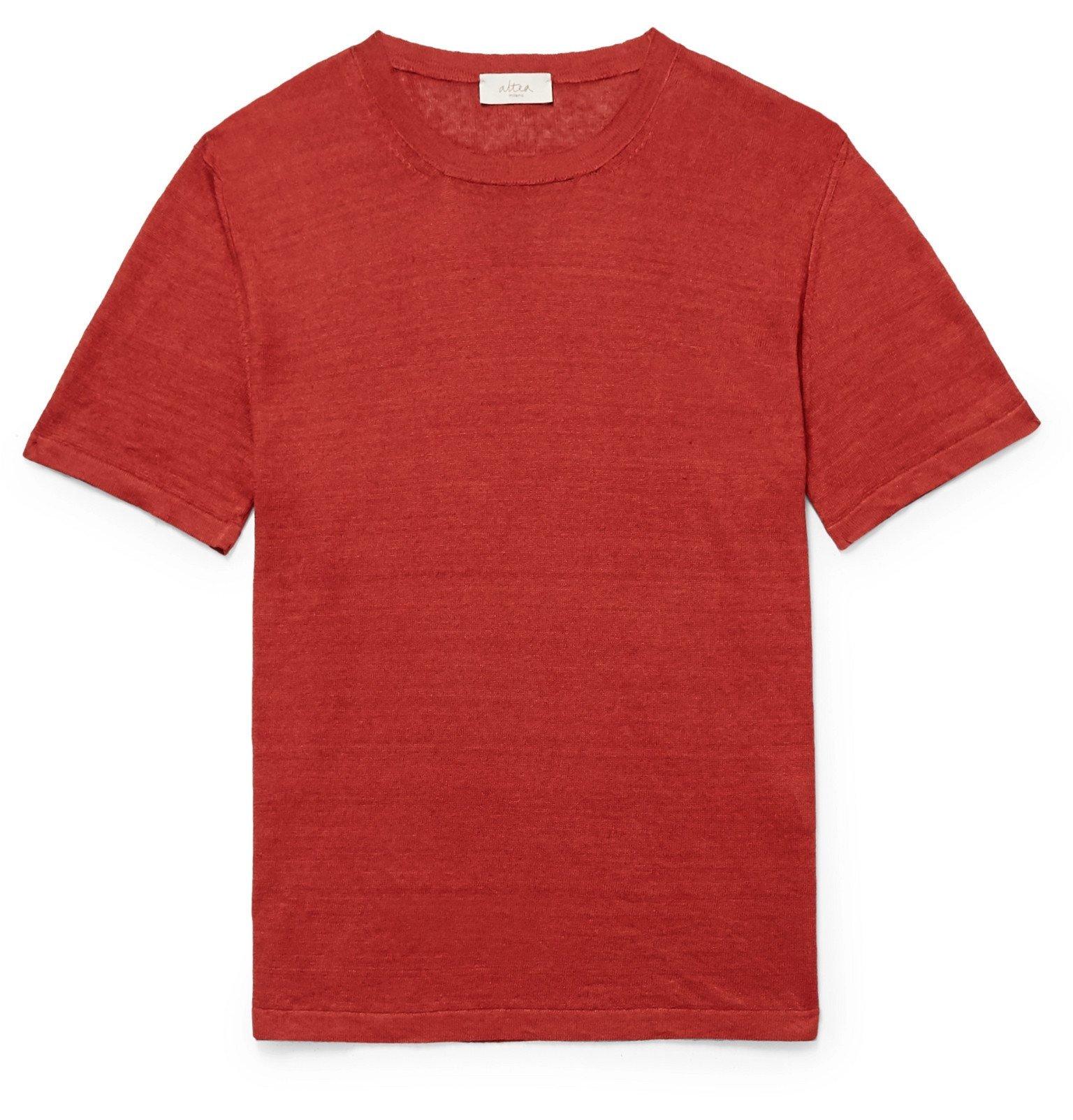 Photo: Altea - Linen T-Shirt - Red