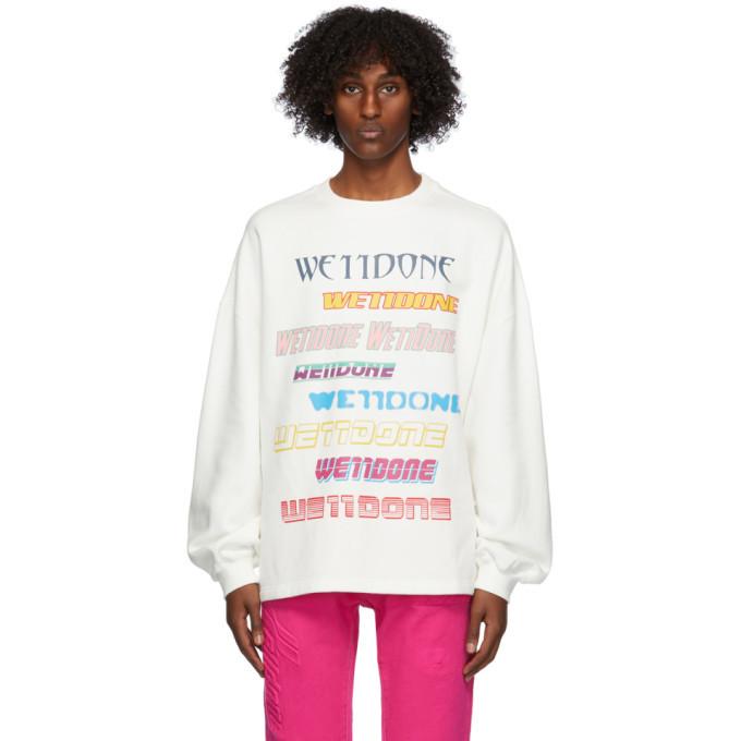 Photo: We11done White Fleece Logo Sweatshirt