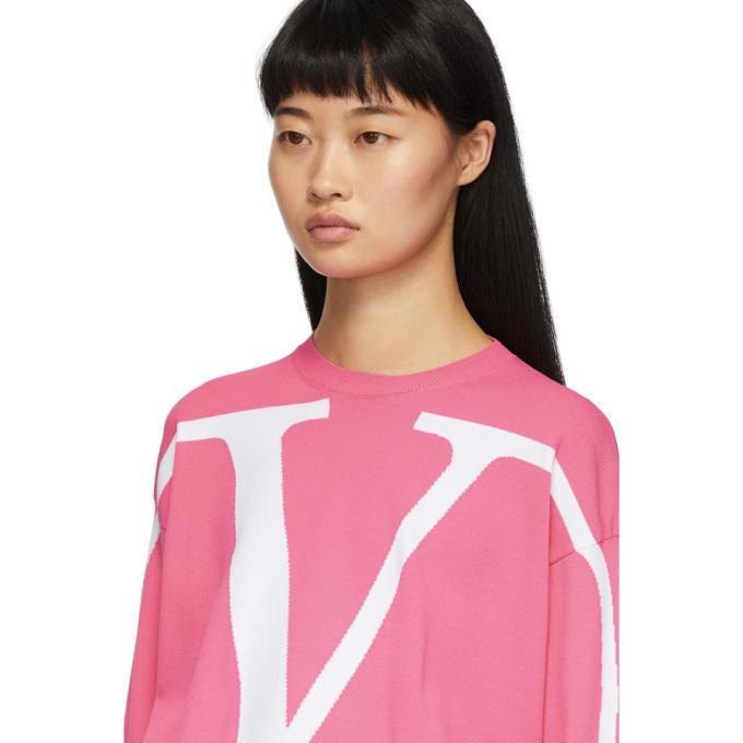 Valentino Pink VLogo Sweater
