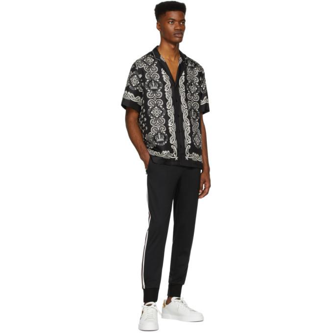 Dolce and Gabbana Black Patch Lounge Pants
