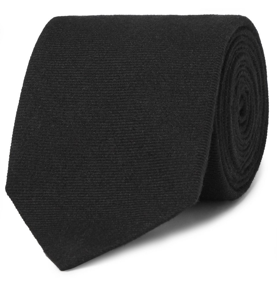 Dunhill - 8cm Cashmere and Mulberry Silk-Blend Twill Tie - Men - Black