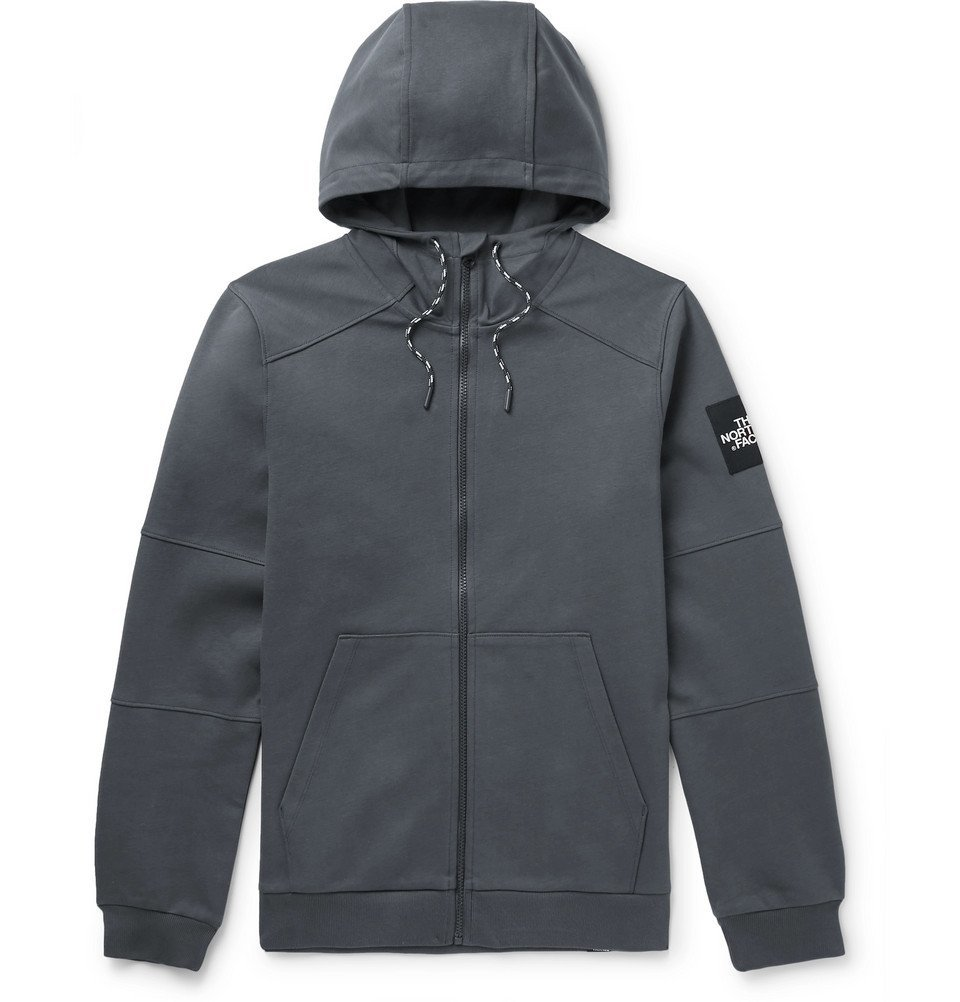 Photo: The North Face - Fine 2 Cotton-Jersey Zip-Up Hoodie - Gray