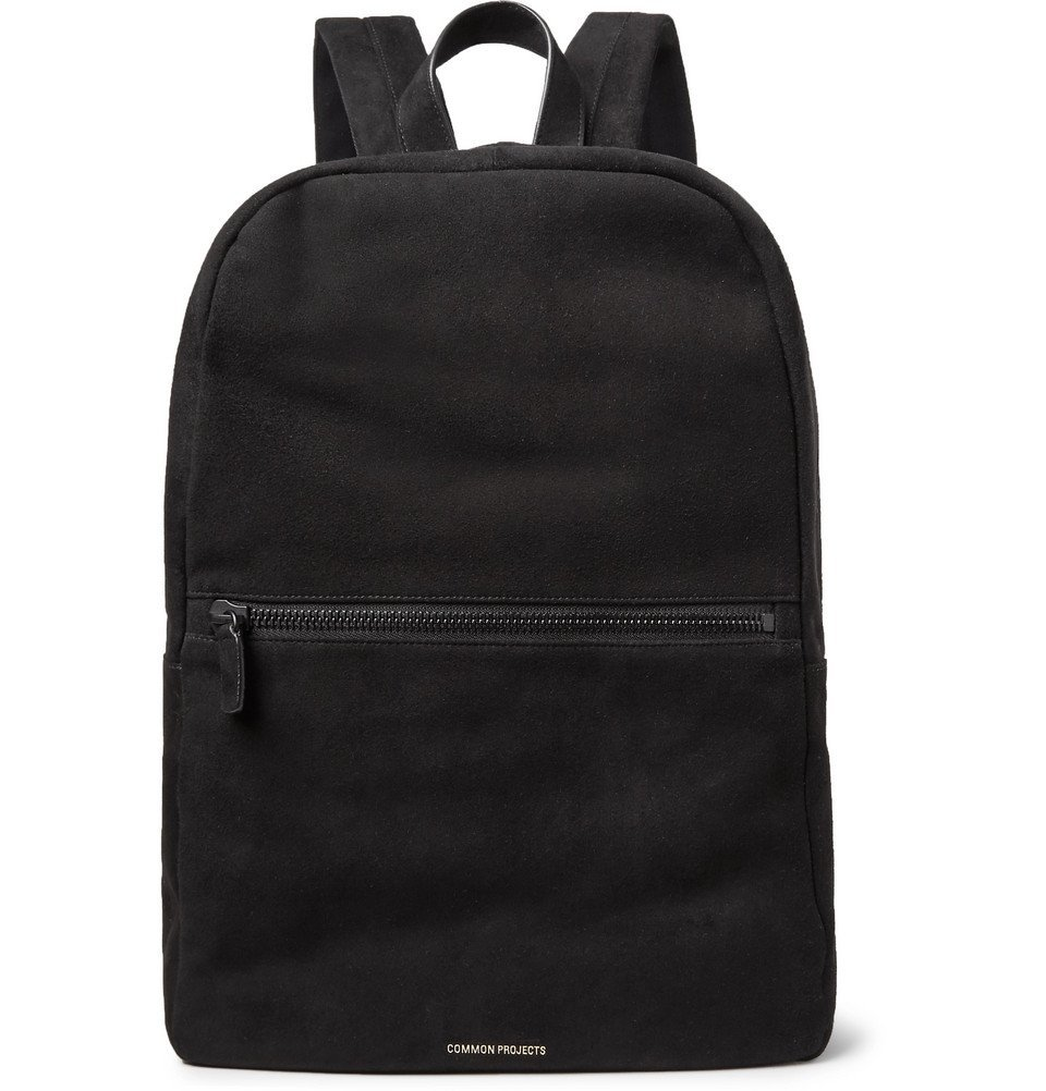 Common Projects - Suede Backpack - Men - Black