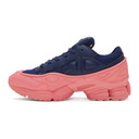 Raf Simons Blue and Pink adidas Originals Edition Ozweego Sneakers