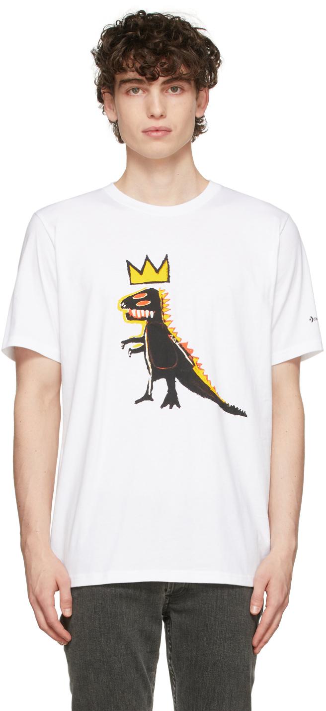 Photo: Converse White Jean-Michel Basquiat Edition Dino T-Shirt