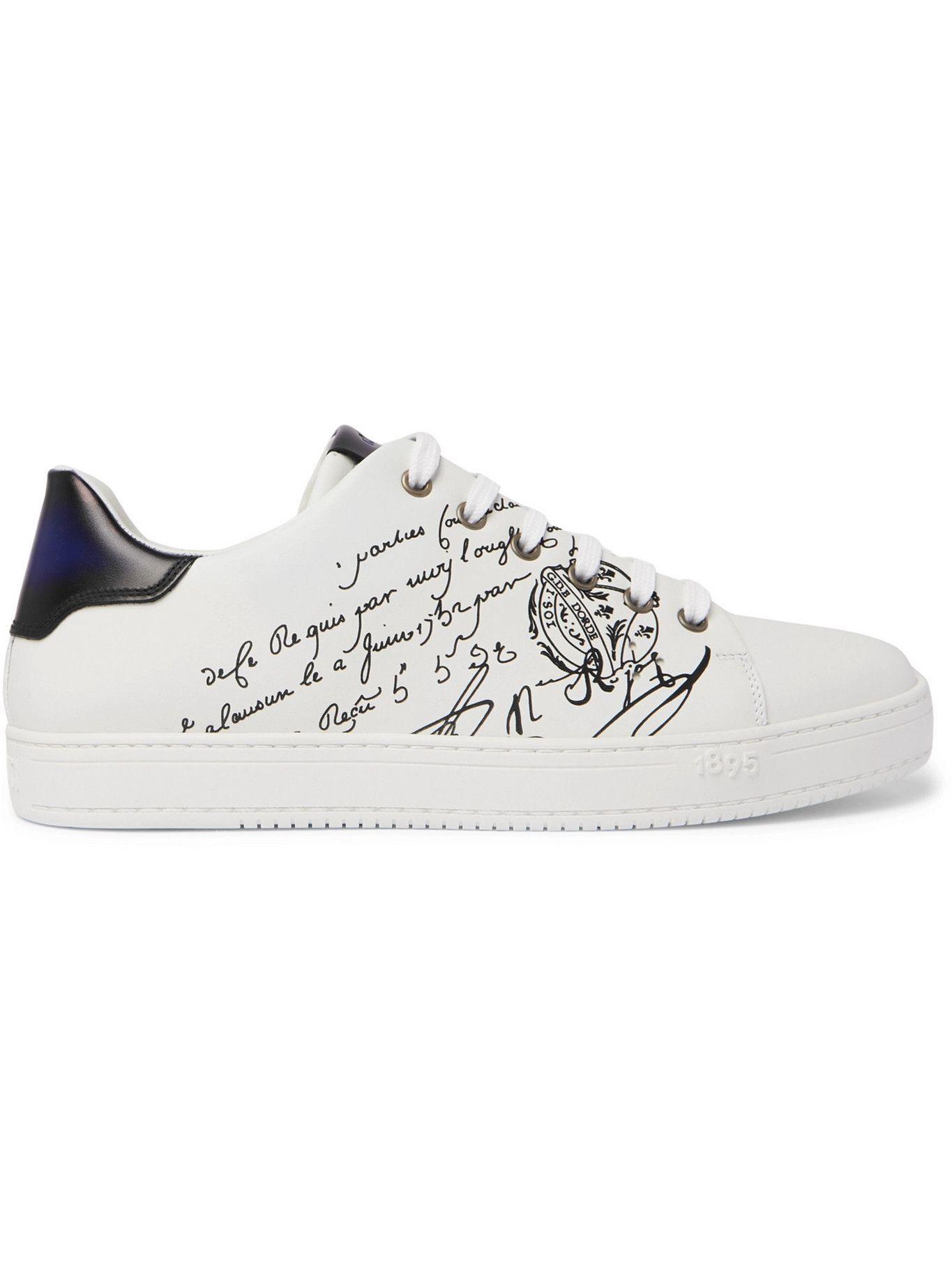 Photo: Berluti - Playtime Scritto Venezia Leather Sneakers - White