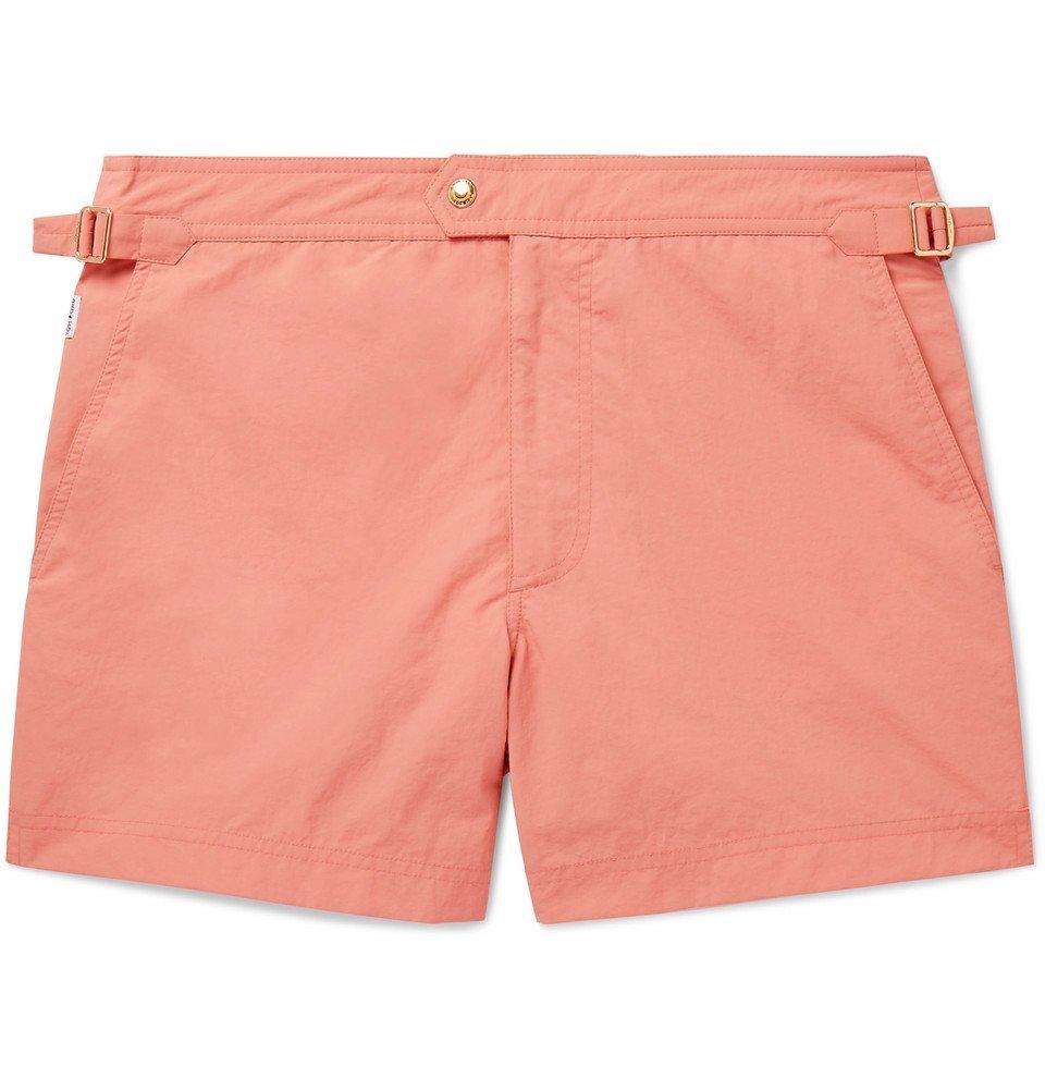 Photo: TOM FORD - Slim-Fit Short-Length Swim Shorts - Orange
