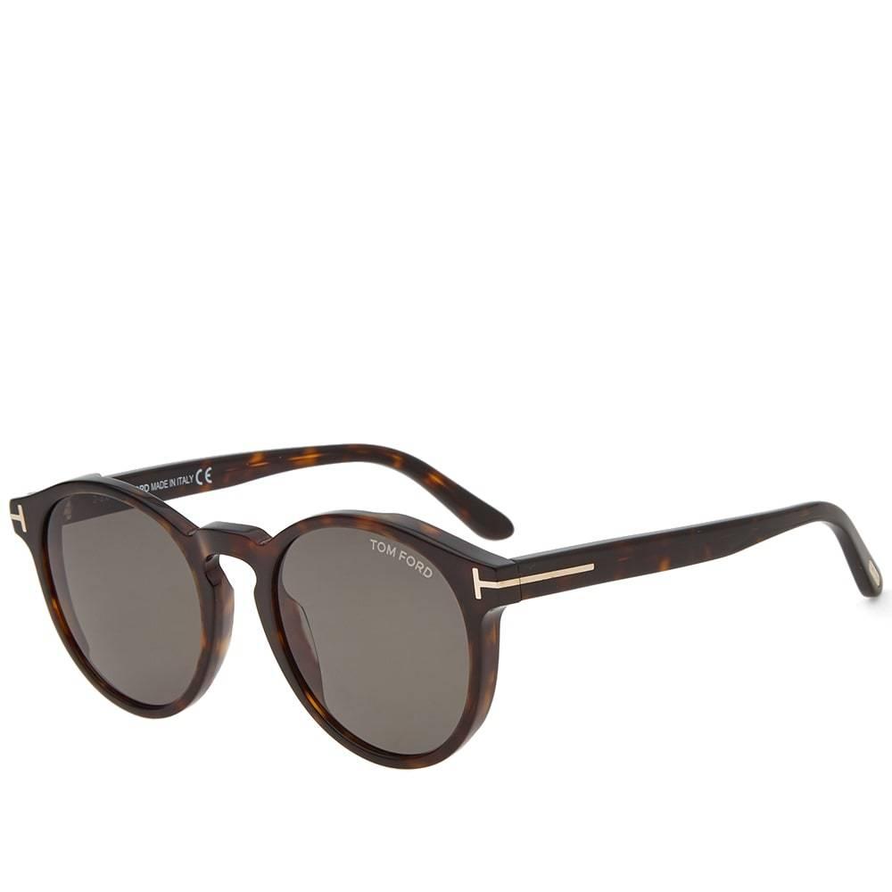 Photo: Tom Ford FT0591 Ian-02 Sunglasses Dark Havana & Green