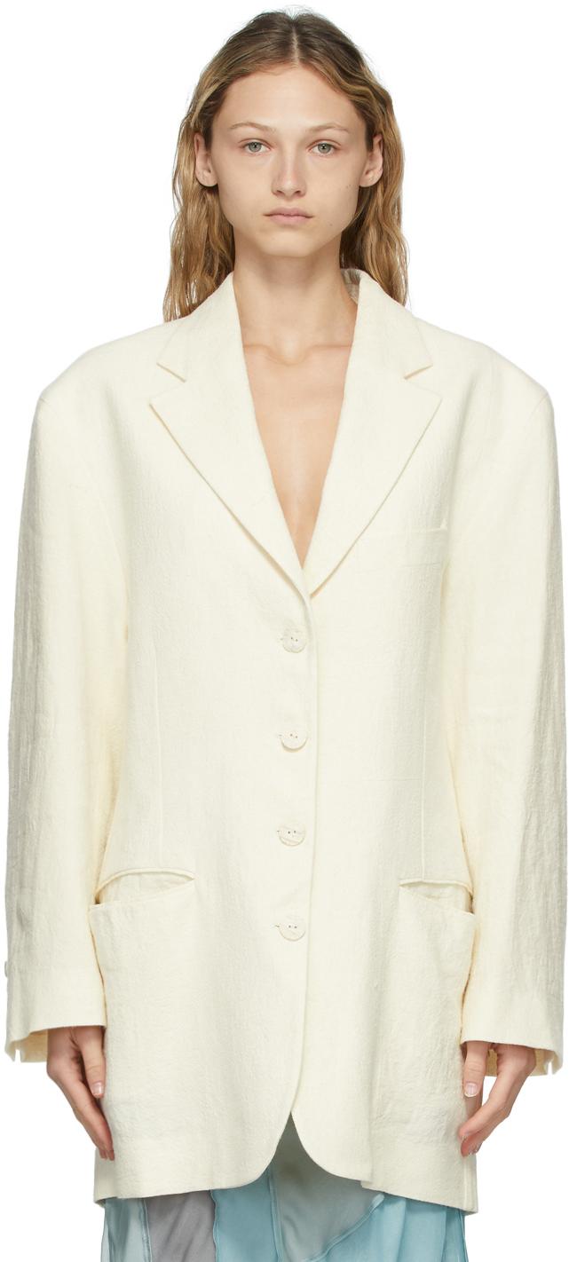 Photo: Acne Studios Off-White Oversized Blazer