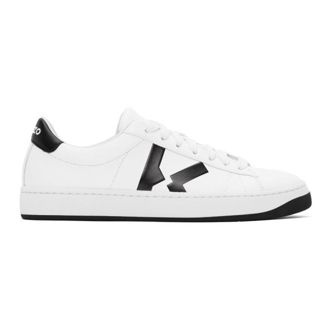 Photo: Kenzo White K-Logo Kourt Sneakers