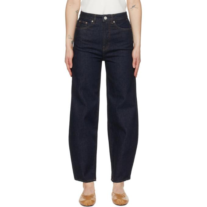 Photo: Toteme Indigo Barrel Leg Jeans