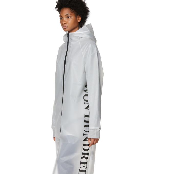 Won Hundred Transparent Hooded Raincoat