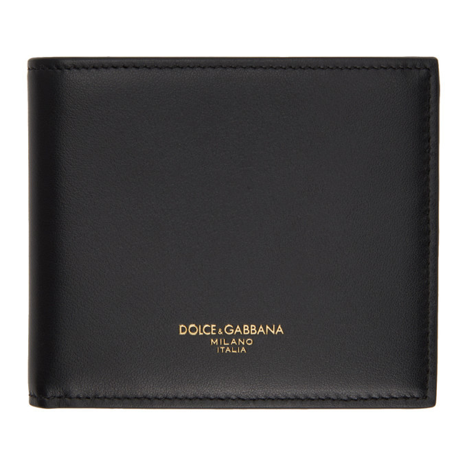 Photo: Dolce and Gabbana Black Leather Bifold Wallet