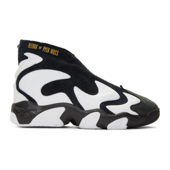 Photo: Reebok by Pyer Moss Black and White Modius Experiment Sneakers