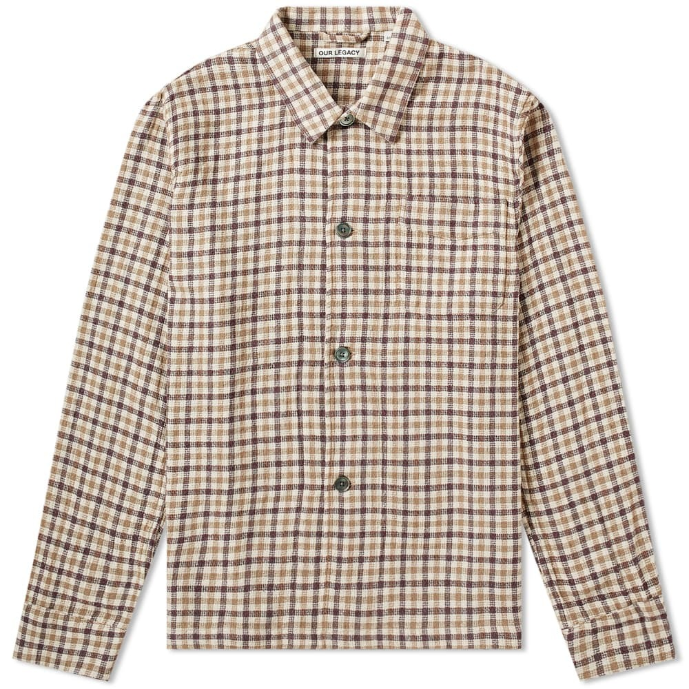 Photo: Our Legacy Box Wool Shirt Brown Check