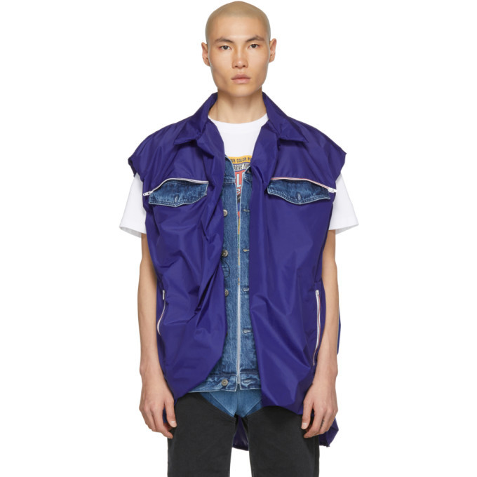 Photo: Y/Project Navy Covered Denim Vest