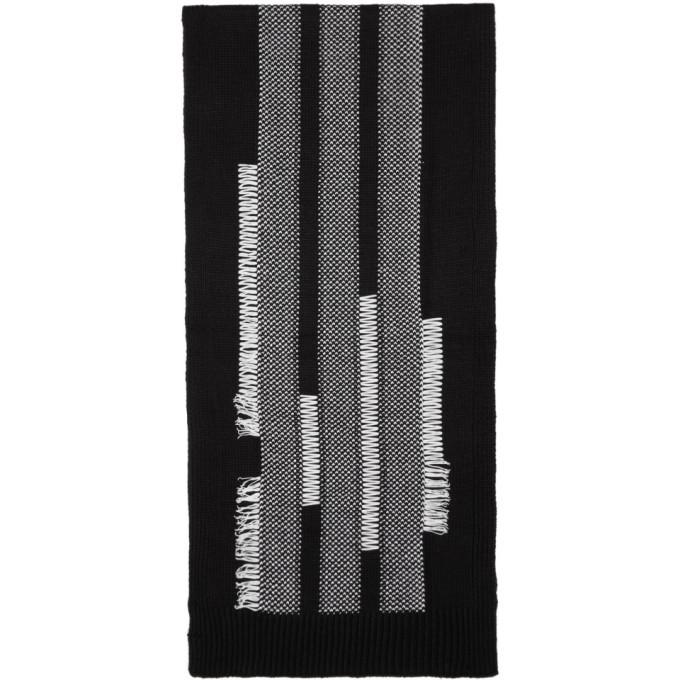Y-3 Black Knit Scarf