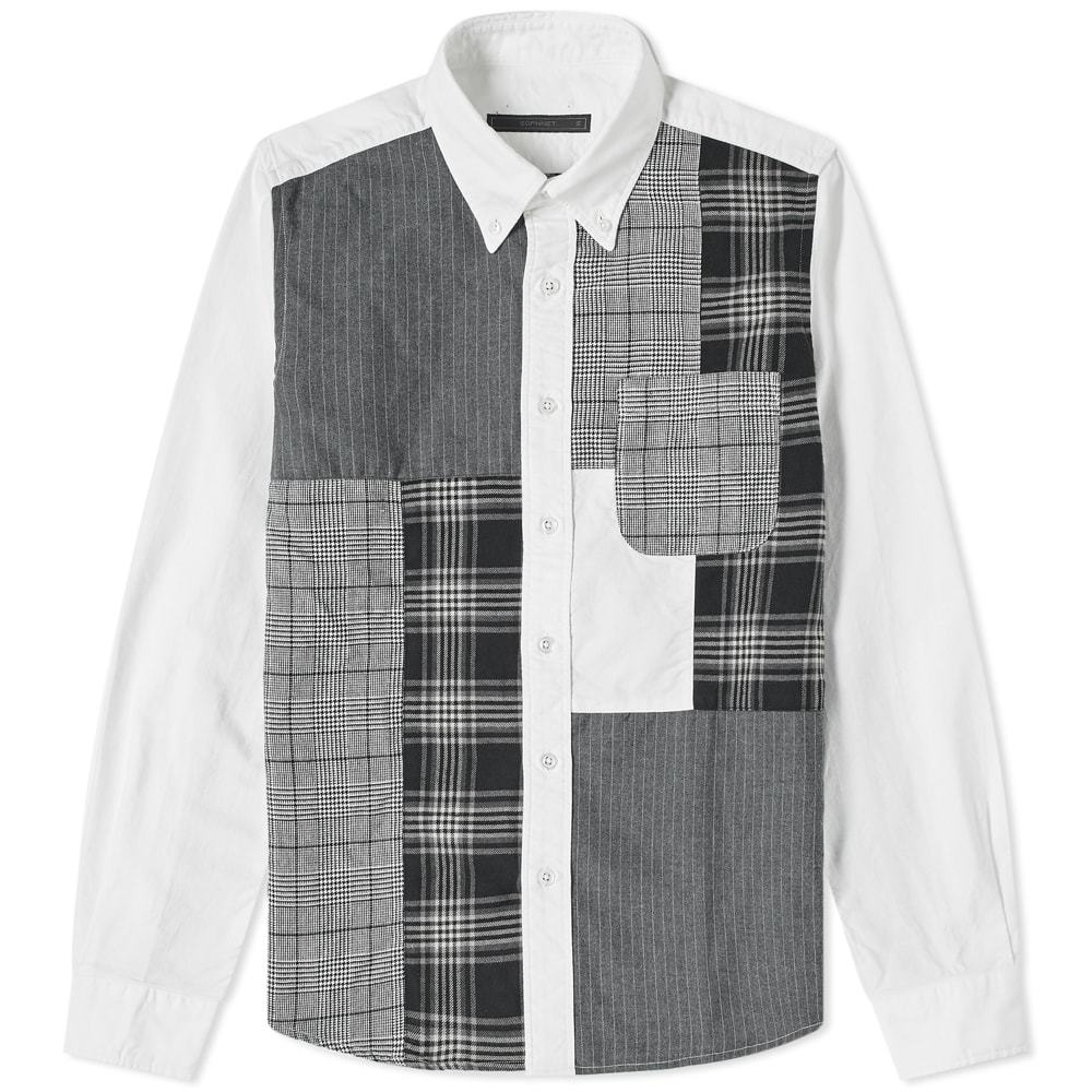 Photo: SOPHNET. Patchwork Button Down Shirt