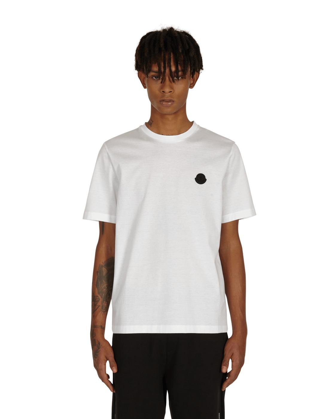 Photo: Moncler Matt Black T Shirt White