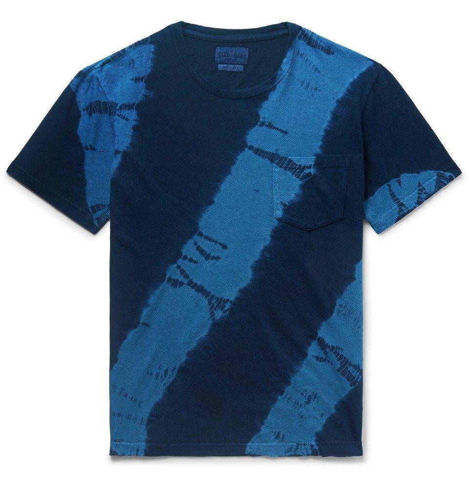 Photo: Blue Blue Japan - Tie-Dyed Cotton-Jersey T-Shirt - Indigo