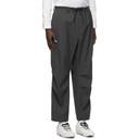 Y-3 Grey Wool Winter Cargo Pants