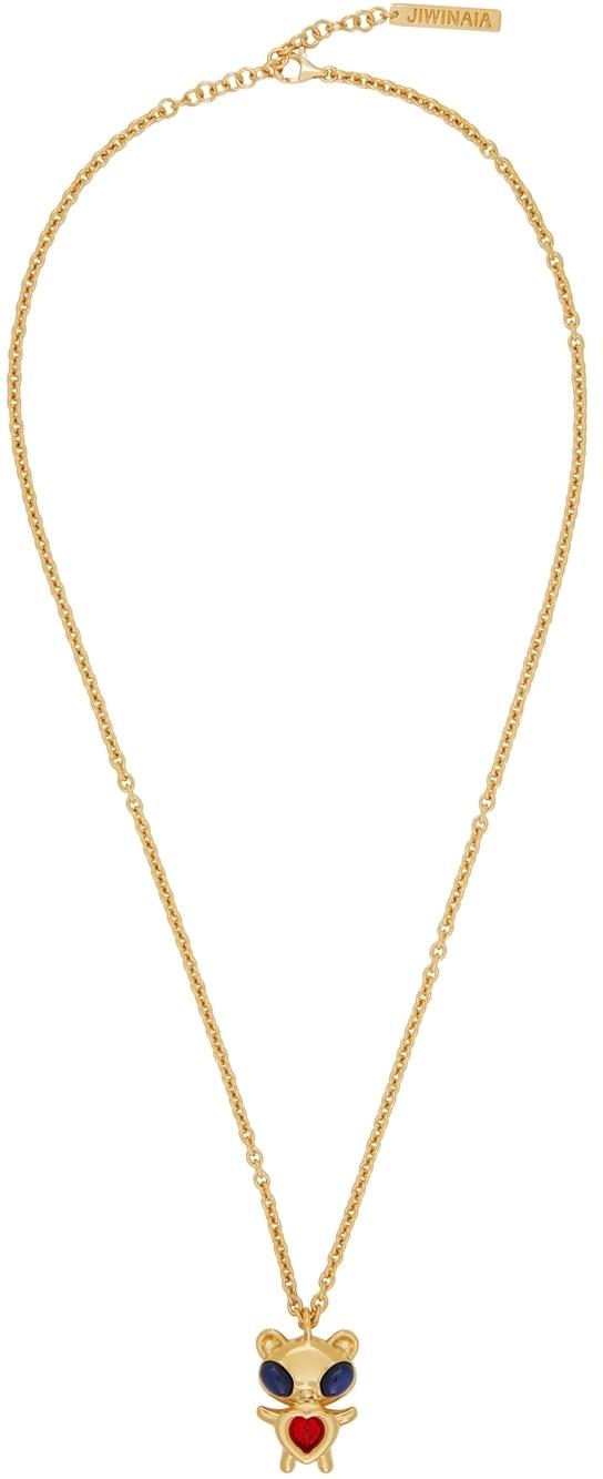 Photo: Jiwinaia SSENSE Exclusive Gold Hybrid Bear Necklace